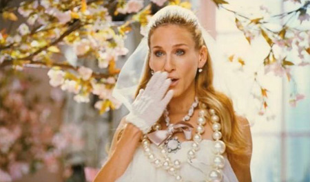 Carrie Bradshaw Gold Wedding Shoes